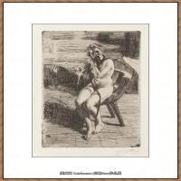 瑞典画家佐恩AndersZorn素描作品高清图片瑞典艺术大师佐恩的线条素描佐恩原作线稿高清图片下载 (70)