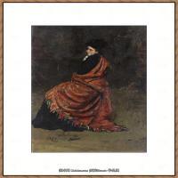 列宾Ilya Repin经典油画作品高清图片人物肖像油画作品图片素材写实派画家油画作品大图 (30)