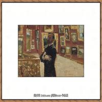 列宾Ilya Repin经典油画作品高清图片人物肖像油画作品图片素材写实派画家油画作品大图 (17)