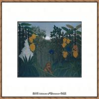法国画家亨利卢梭Jacques Rousseau油画作品高清图片杰出的油画作品梦 (7)