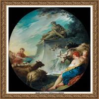 法国洛可可风格画派画家弗朗索瓦布歇Francois Boucher油画作品高清图片肖像画古典宫廷油画高清图片 (22)