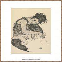 奥地利绘画大师埃贡席勒 Egon Schiele油画作品高清大图席勒绘画作品高清图片 (64)