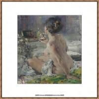 俄裔美籍画家尼古拉费申Nicolai Ivanovich Fechin油画作品高清图片 (16)