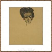 奥地利绘画大师埃贡席勒 Egon Schiele油画作品高清大图席勒绘画作品高清图片 (78)