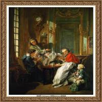 法国洛可可风格画派画家弗朗索瓦布歇Francois Boucher油画作品高清图片肖像画古典宫廷油画高清图片 (8)