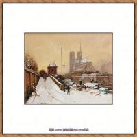 法国印象派艺术家尤金加林拉洛Eugene Galien Laloue巴黎风景印象油画高清大图 (38)