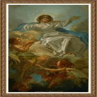 法国洛可可风格画派画家弗朗索瓦布歇Francois Boucher油画作品高清图片肖像画古典宫廷油画高清图片 (231)
