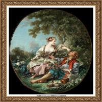 法国洛可可风格画派画家弗朗索瓦布歇Francois Boucher油画作品高清图片肖像画古典宫廷油画高清图片 (228)