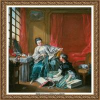 法国洛可可风格画派画家弗朗索瓦布歇Francois Boucher油画作品高清图片肖像画古典宫廷油画高清图片 (29)
