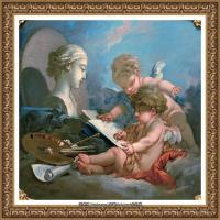 法国洛可可风格画派画家弗朗索瓦布歇Francois Boucher油画作品高清图片肖像画古典宫廷油画高清图片 (2)