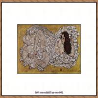 奥地利绘画大师埃贡席勒 Egon Schiele油画作品高清大图席勒绘画作品高清图片 (45)