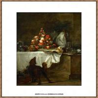 法国著名静物画家夏尔丹Jean Baptiste Siméon静物画巨匠夏尔丹油画作品高清图片 (11)