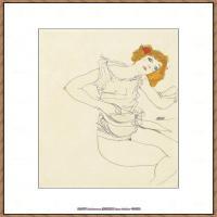 奥地利绘画大师埃贡席勒 Egon Schiele油画作品高清大图席勒绘画作品高清图片 (71)