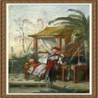 法国洛可可风格画派画家弗朗索瓦布歇Francois Boucher油画作品高清图片肖像画古典宫廷油画高清图片 (43)
