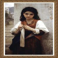法国学院派画家威廉阿道夫布格罗Bouguereau Adolphe William油画人物高清图片 (65)
