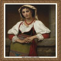 法国学院派画家威廉阿道夫布格罗Bouguereau Adolphe William油画人物高清图片 (92)