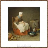 法国著名静物画家夏尔丹Jean Baptiste Siméon静物画巨匠夏尔丹油画作品高清图片 (51)