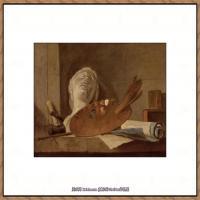 法国著名静物画家夏尔丹Jean Baptiste Siméon静物画巨匠夏尔丹油画作品高清图片 (38)