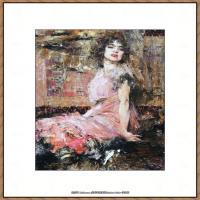 俄裔美籍画家尼古拉费申Nicolai Ivanovich Fechin油画作品高清图片 (45)