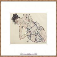 奥地利绘画大师埃贡席勒 Egon Schiele油画作品高清大图席勒绘画作品高清图片 (70)