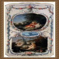 法国洛可可风格画派画家弗朗索瓦布歇Francois Boucher油画作品高清图片肖像画古典宫廷油画高清图片 (37)