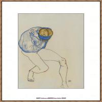奥地利绘画大师埃贡席勒 Egon Schiele油画作品高清大图席勒绘画作品高清图片 (65)