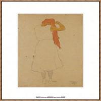 奥地利绘画大师埃贡席勒 Egon Schiele油画作品高清大图席勒绘画作品高清图片 (75)