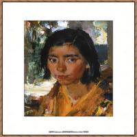 俄裔美籍画家尼古拉费申Nicolai Ivanovich Fechin油画作品高清图片 (59)