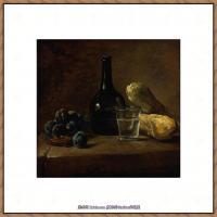 法国著名静物画家夏尔丹Jean Baptiste Siméon静物画巨匠夏尔丹油画作品高清图片 (8)