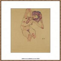 奥地利绘画大师埃贡席勒 Egon Schiele油画作品高清大图席勒绘画作品高清图片 (77)