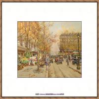 法国印象派艺术家尤金加林拉洛Eugene Galien Laloue巴黎风景印象油画高清大图 (31)