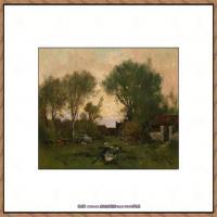 法国印象派艺术家尤金加林拉洛Eugene Galien Laloue巴黎风景印象油画高清大图 (92)