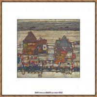 奥地利绘画大师埃贡席勒 Egon Schiele油画作品高清大图席勒绘画作品高清图片 (44)