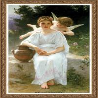 法国学院派画家威廉阿道夫布格罗Bouguereau Adolphe William油画人物高清图片 (67)