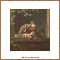 法国著名静物画家夏尔丹Jean Baptiste Siméon静物画巨匠夏尔丹油画作品高清图片 (5)