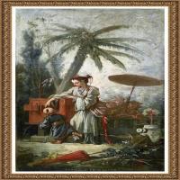 法国洛可可风格画派画家弗朗索瓦布歇Francois Boucher油画作品高清图片肖像画古典宫廷油画高清图片 (42)