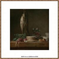 法国著名静物画家夏尔丹Jean Baptiste Siméon静物画巨匠夏尔丹油画作品高清图片 (33)