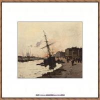 法国印象派艺术家尤金加林拉洛Eugene Galien Laloue巴黎风景印象油画高清大图 (14)