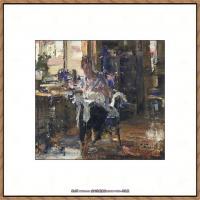 俄裔美籍画家尼古拉费申Nicolai Ivanovich Fechin油画作品高清图片 (15)