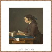 法国著名静物画家夏尔丹Jean Baptiste Siméon静物画巨匠夏尔丹油画作品高清图片 (53)