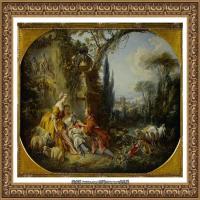 法国洛可可风格画派画家弗朗索瓦布歇Francois Boucher油画作品高清图片肖像画古典宫廷油画高清图片 (256)