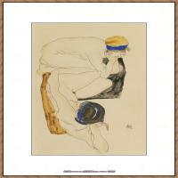 奥地利绘画大师埃贡席勒 Egon Schiele油画作品高清大图席勒绘画作品高清图片 (58)