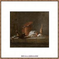 法国著名静物画家夏尔丹Jean Baptiste Siméon静物画巨匠夏尔丹油画作品高清图片 (43)