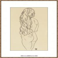 奥地利绘画大师埃贡席勒 Egon Schiele油画作品高清大图席勒绘画作品高清图片 (56)
