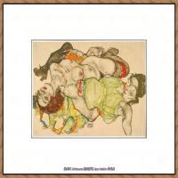 奥地利绘画大师埃贡席勒 Egon Schiele油画作品高清大图席勒绘画作品高清图片 (46)