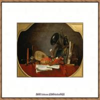 法国著名静物画家夏尔丹Jean Baptiste Siméon静物画巨匠夏尔丹油画作品高清图片 (57)