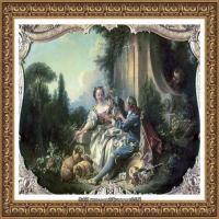 法国洛可可风格画派画家弗朗索瓦布歇Francois Boucher油画作品高清图片肖像画古典宫廷油画高清图片 (4)