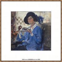 俄裔美籍画家尼古拉费申Nicolai Ivanovich Fechin油画作品高清图片 (21)