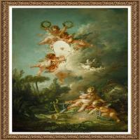 法国洛可可风格画派画家弗朗索瓦布歇Francois Boucher油画作品高清图片肖像画古典宫廷油画高清图片 (238)