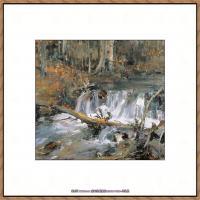 俄裔美籍画家尼古拉费申Nicolai Ivanovich Fechin油画作品高清图片 (31)
